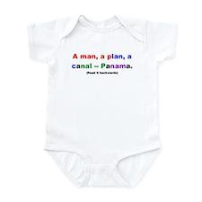 A man, a plan, a canal -- Pan Infant Bodysuit