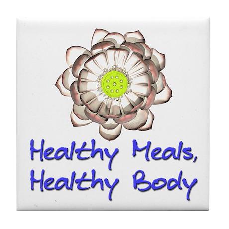 Healthy Body Tile Coaster