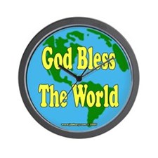 God Bless The World Wall Clock