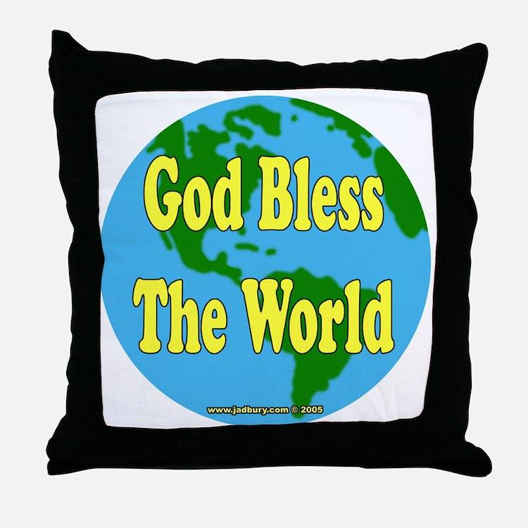 God Bless The World Throw Pillow
