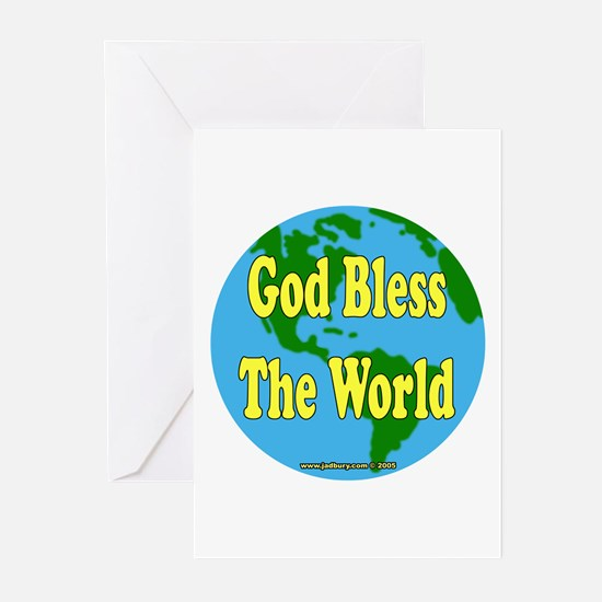 God Bless The World Greeting Cards (Pk of 10)