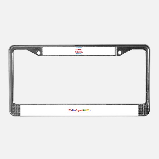 Stop Media Sexism & Bias License Plate Frame