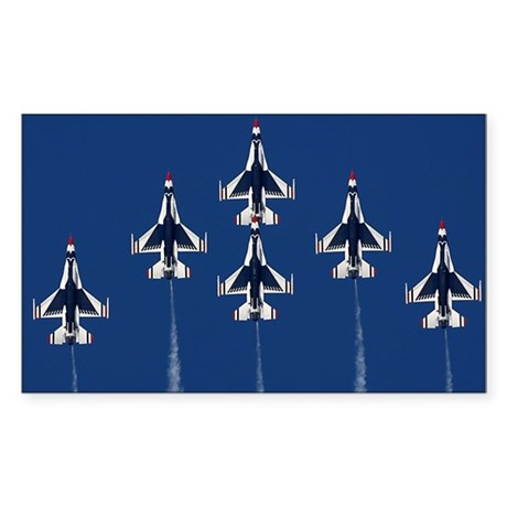 USAF Thunderbirds Rectangle Sticker
