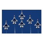 USAF Thunderbirds Rectangle Sticker 10 pk)