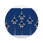 USAF Thunderbirds Ornament (Round)