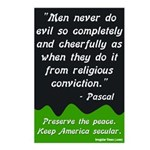 Pascal on Religion Postcards