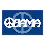 Obama Peace Rectangle Sticker 10 pk)