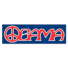 Obama Peace Bumper Bumper Sticker