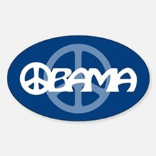 Obama Peace Oval Decal