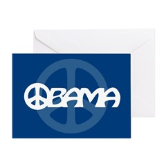 Obama Peace Greeting Card