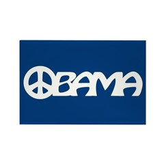 Obama Peace Rectangle Magnet (10 pack)