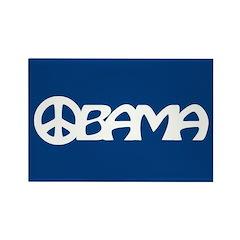 Obama Peace Rectangle Magnet