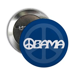 "Obama Peace 2.25"" Button (10 pack)"