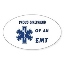 EMT Girlfriend Oval Decal
