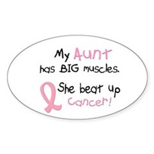 Big Muscles 1.1 (Aunt) Oval Decal