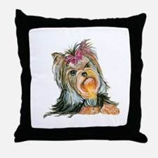 Yorkie Gifts for Yorkshire Terriers Throw Pillow