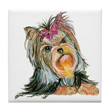 Yorkie Gifts for Yorkshire Terriers Tile Coaster