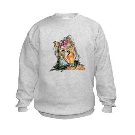 Yorkie Gifts for Yorkshire Terriers Kids Sweatshir