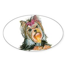 Yorkie Gifts for Yorkshire Terriers Oval Decal