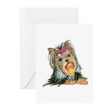 Yorkie Gifts for Yorkshire Terriers Greeting Cards