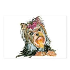 Yorkie Gifts for Yorkshire Terriers Postcards (Pac