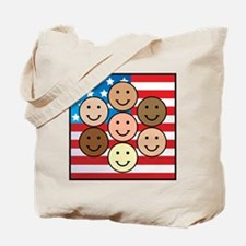 America People of Many Colors Tote Bag