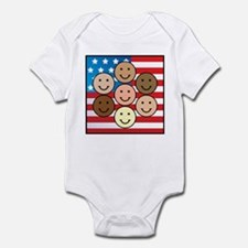 America People of Many Colors Infant Bodysuit