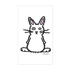 Fluffy Bunny of Doom Rectangle Decal