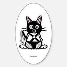 BDSM Bunny Oval Decal