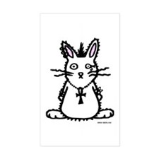 Goth Bunny Rectangle Decal