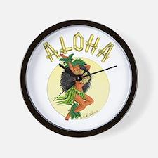aloha Wahine Wall Clock