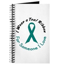 Teal Ribbon For Someone I Love 4 Journal