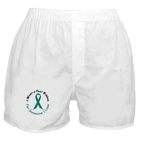 Teal Ribbon For Someone I Love 4 Boxer Shorts