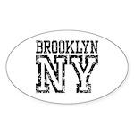 Brooklyn NY Sticker (Oval 10 pk)