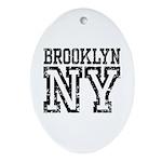 Brooklyn NY Ornament (Oval)