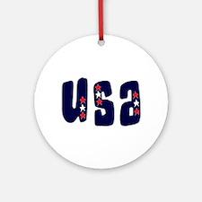 USA Stars Ornament (Round)