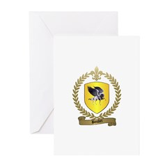 BOUDET Family Crest Greeting Cards (Pk of 10)
