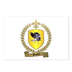 BOUDET Family Crest Postcards (Package of 8)