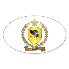 BOUDET Family Crest Oval Decal