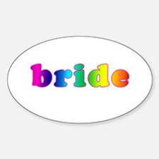 Bride in Rainbow Oval Decal