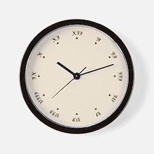 Quaint Wall Clock with Antique Roman Numerals