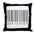 Bartender Barcode Throw Pillow