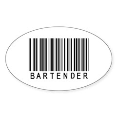 Bartender Barcode Oval Decal