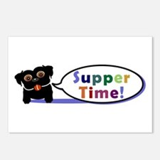 Suppertime Pug Postcards (Package of 8)