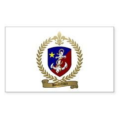 BOUDREAUX Family Crest Rectangle Decal