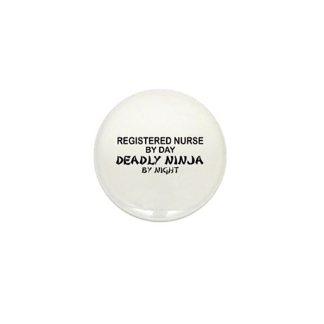 RN Deadly Ninja by Night Mini Button