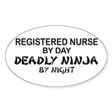 RN Deadly Ninja by Night Oval Decal