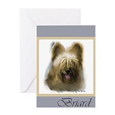 Briard Greeting Card