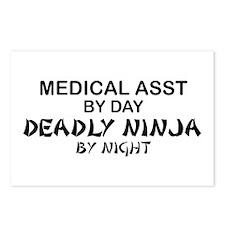 Med Asst Deadly Ninja by Night Postcards (Package