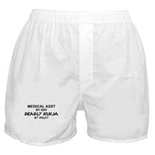Med Asst Deadly Ninja by Night Boxer Shorts